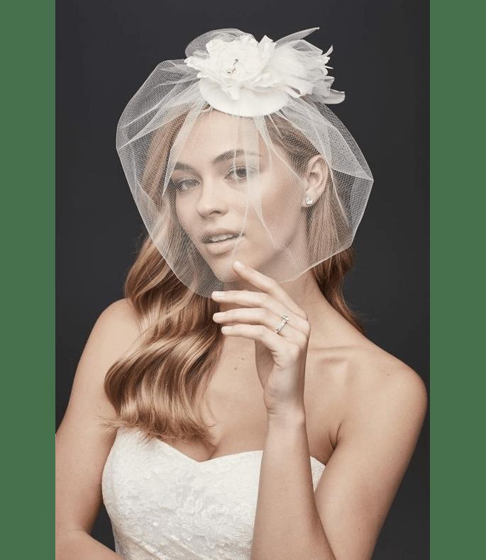 Velo de novia tipo blusher estilo vintage