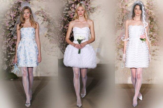 Kurze Brautkleider von Óscar de la Renta 2012