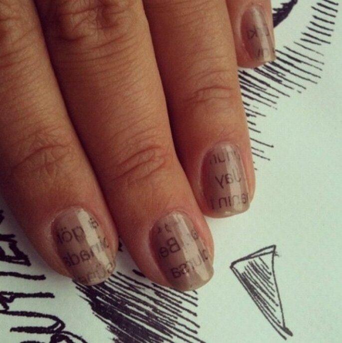 Manicura que está de moda. Foto de instagram nailsforever.