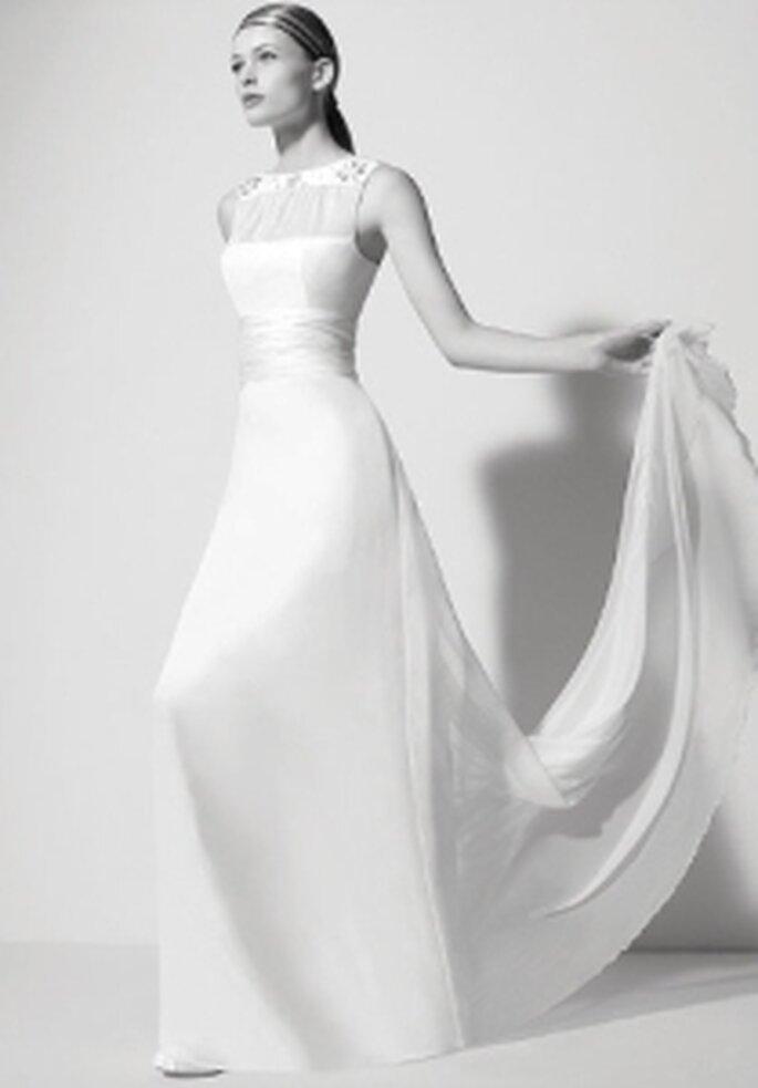 Rosa Clará y Karl Lagerfeld 2008 - Yesser, vestido en shantung