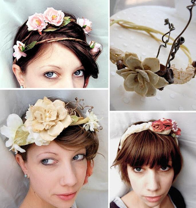 Blumenkränze im Haar sind das Must-Have einer Hippie-Hochzeit – Foto: which goose