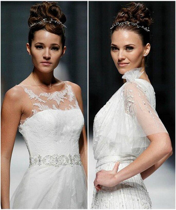 La Sposa 2013 : des robes de mariée mises en valeur par des tops ! Photo : Ugo Cámara