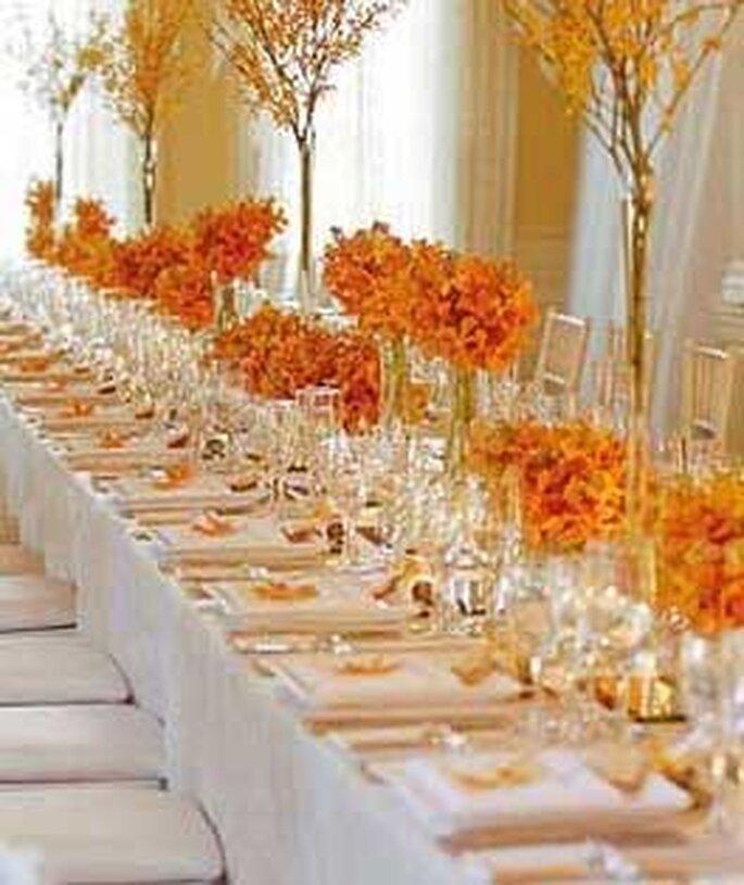 El salón puede decorarse a tono con colores otoñales