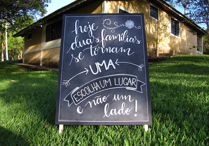 Chalkboard: Natany Oliveira Handmade - Foto: Vinicius Paciello.
