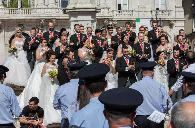 casais após casamento de Santo Antônio