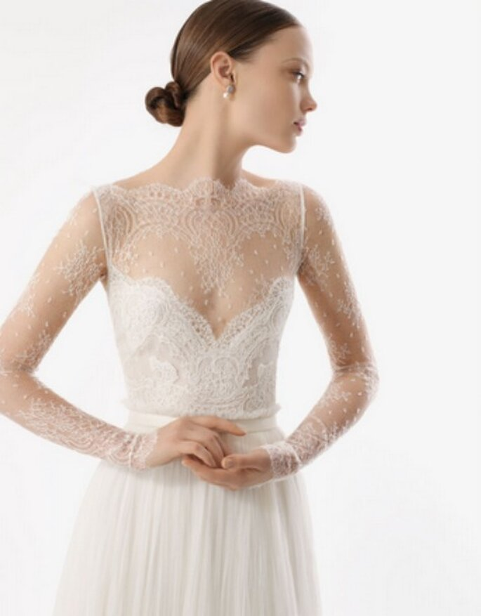 de forma exclusiva los vestidos de novia de la nueva colección Rosa