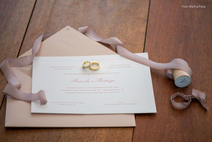 Convite casamento elegante