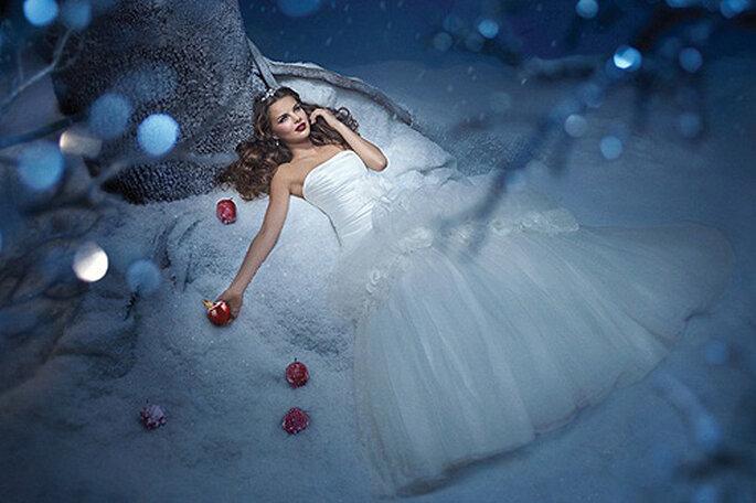 Blancanieves vestida de novia. Foto: Alfred Angelo