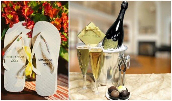 Plan romántico para la noche de bodas. Foto: Marina Lomar y Dom Perignon