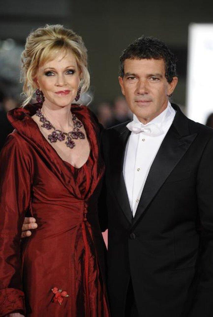 Melanie Griffith y Antonio Banderas Premios Goya 2012.