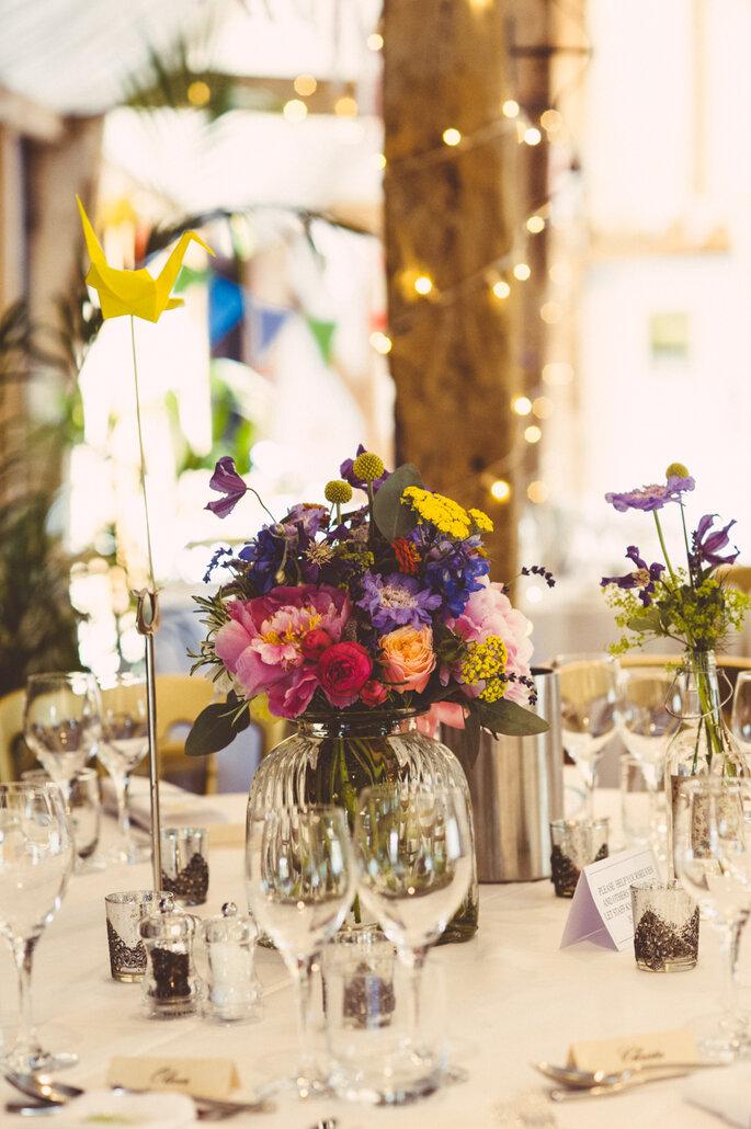 Mesa convidados decorada com Tsurus