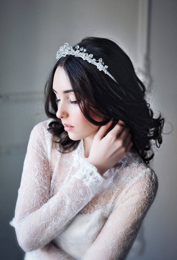 Peinados de novia con pelo corto