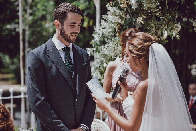 votos de casamento: a noiva a declarar-se