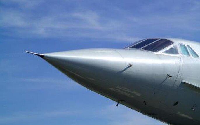 """La """"trompa"""" inconfundible del Concorde"""
