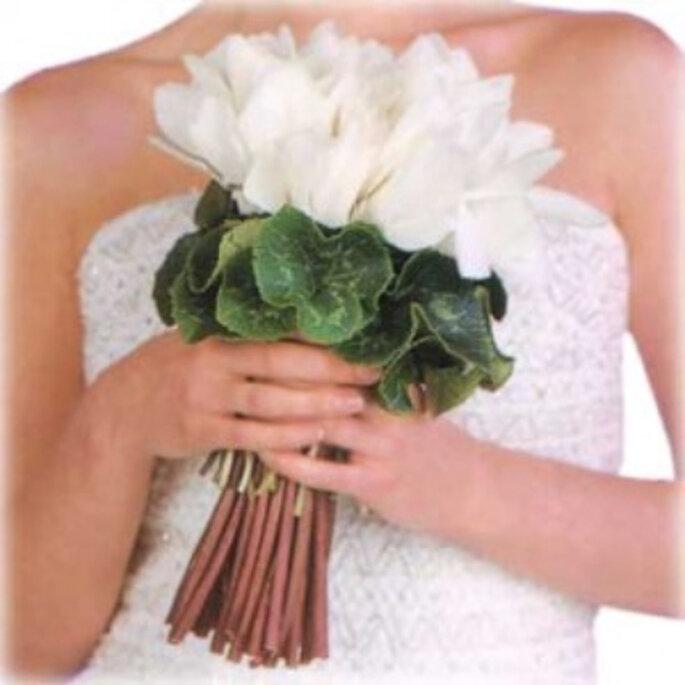 Bouquet de mariée blanc. - Source : www.bodas.facilisimo.com