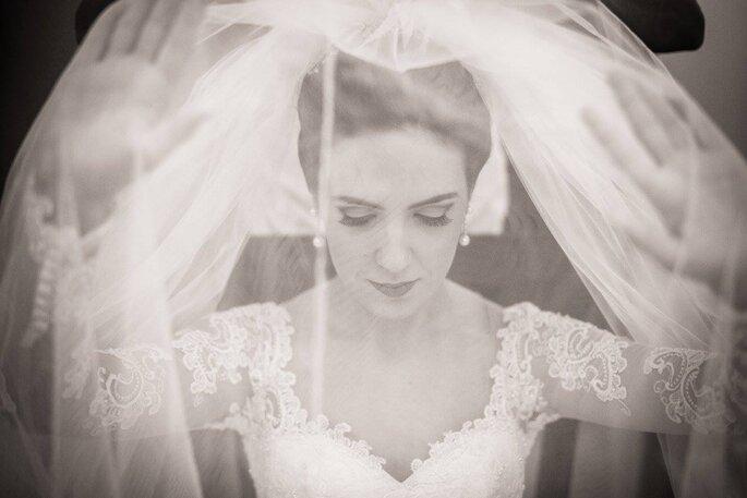 foto noiva com véu