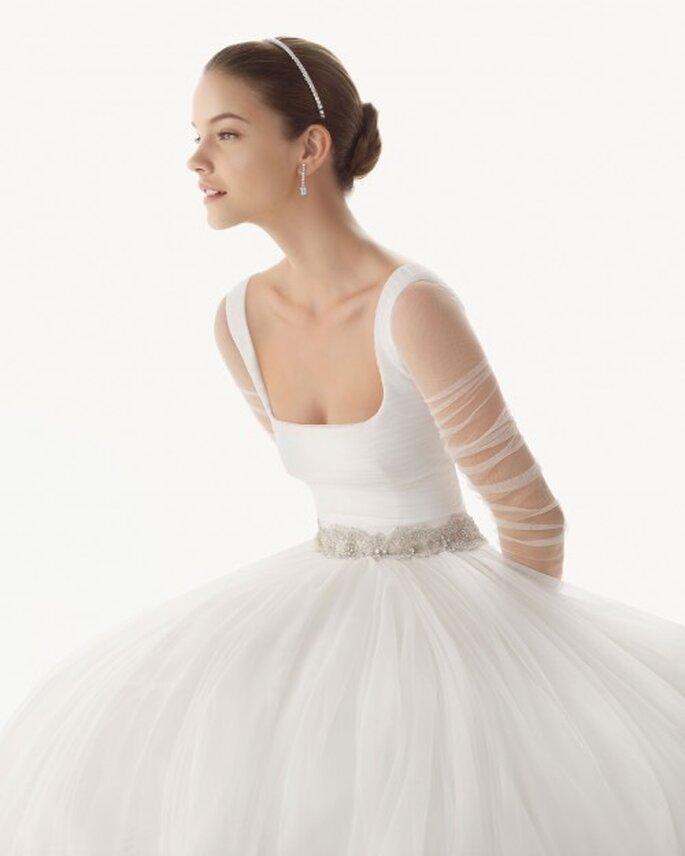 Vestido con mangas como Natalie Portman. Rosa Clará 2013