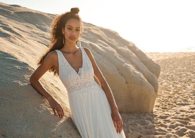 Robe de mariée empire pour un mariage à la plage