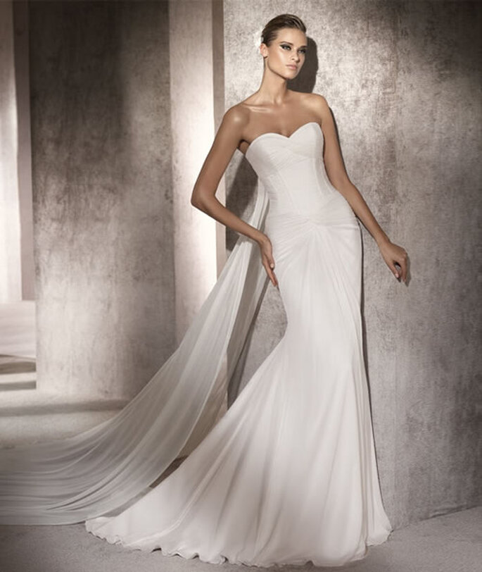 Vestido de novia con corsé. Paola de Pronovias