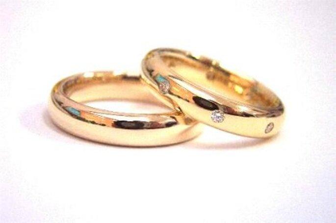 Alianzas de oro con diamantes - Dabra