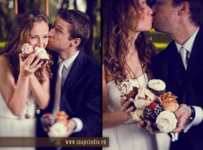 Cupcakes en tu boda. Imagen SnapStudio