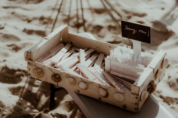 Cadeaux invités mariage plage bohème