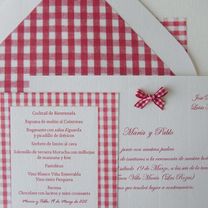 Original invitación diseñada por María Moltó. Foto: María Moltó