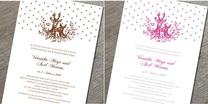 Das Hirsch-Design ist in verschiedenen Fabvariationen erhältlich.