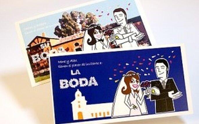 Invitaciones de boda personalizadas Sya-Sya