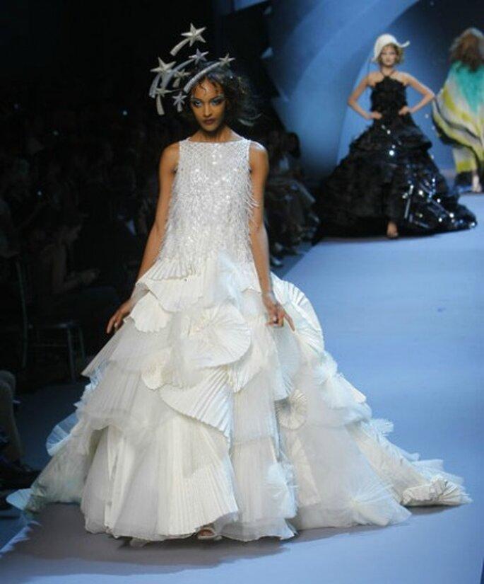 Para una novia atrevida.  Dior Haute Couture 2011-2012