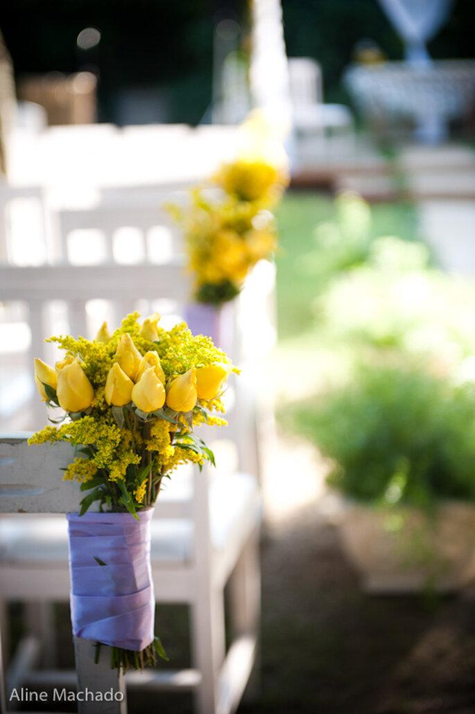 Decoración para una ceremonia campestre. Foto: Aline Machado