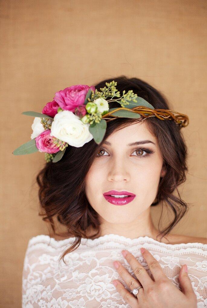 Couronne de fleurs pour mariée ou invités à un mariage