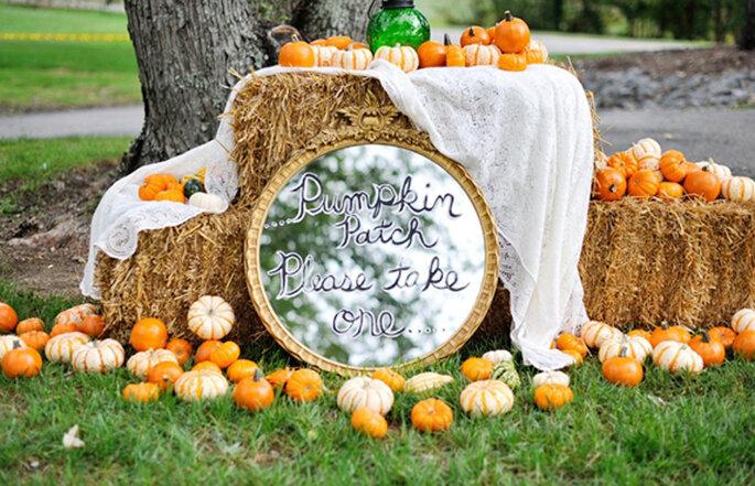 Halloween Hochzeit Dekoration Kürbis