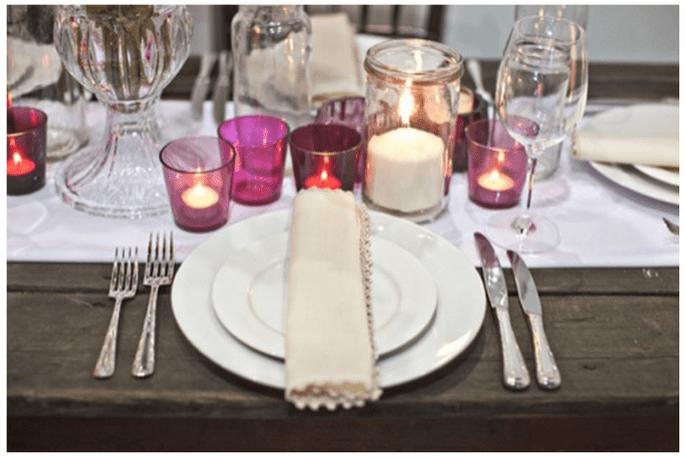 Decoración de boda con velas - Foto Bride + Groom