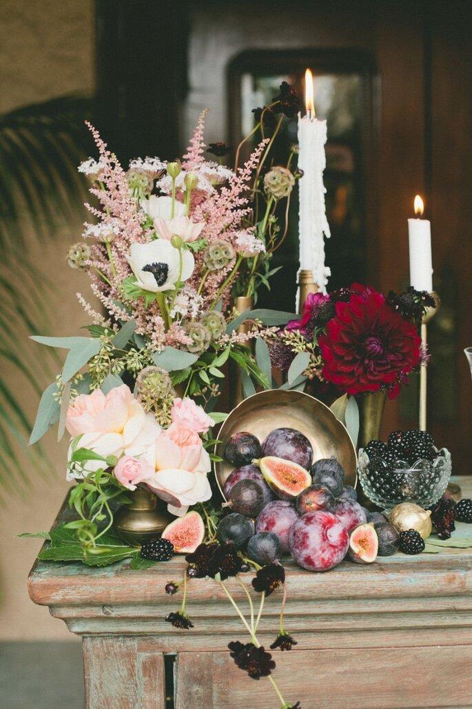 Decoração de casamento com frutas