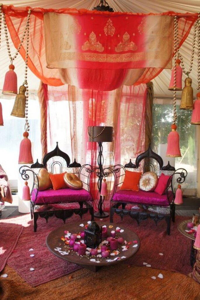 Un mariage fa on star de bollywood - Decoration oriental mariage ...