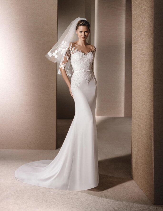 vestido de novia cola de corte