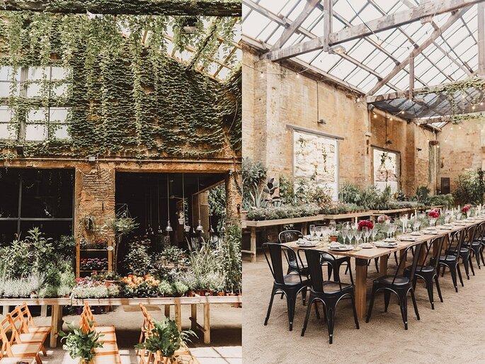 boda invernadero industrial