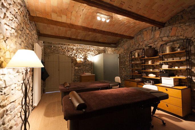 Table de massage - espace détente dans un château où se marier