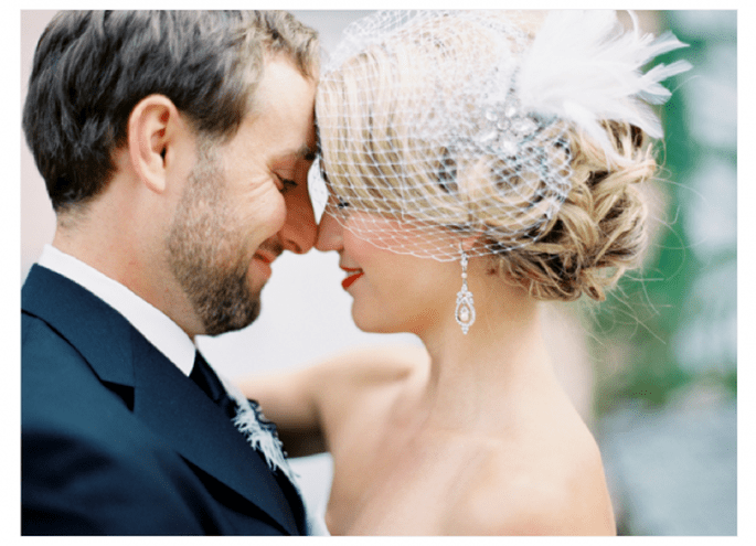 Cómo elegir el mejor tocado para novia - Foto Anne Robert Photography