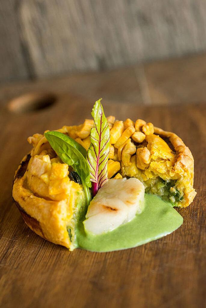 l'Eveil des Papilles - Tourte à base de légumes et de coquille saint-jaques, idéal pour une entrée