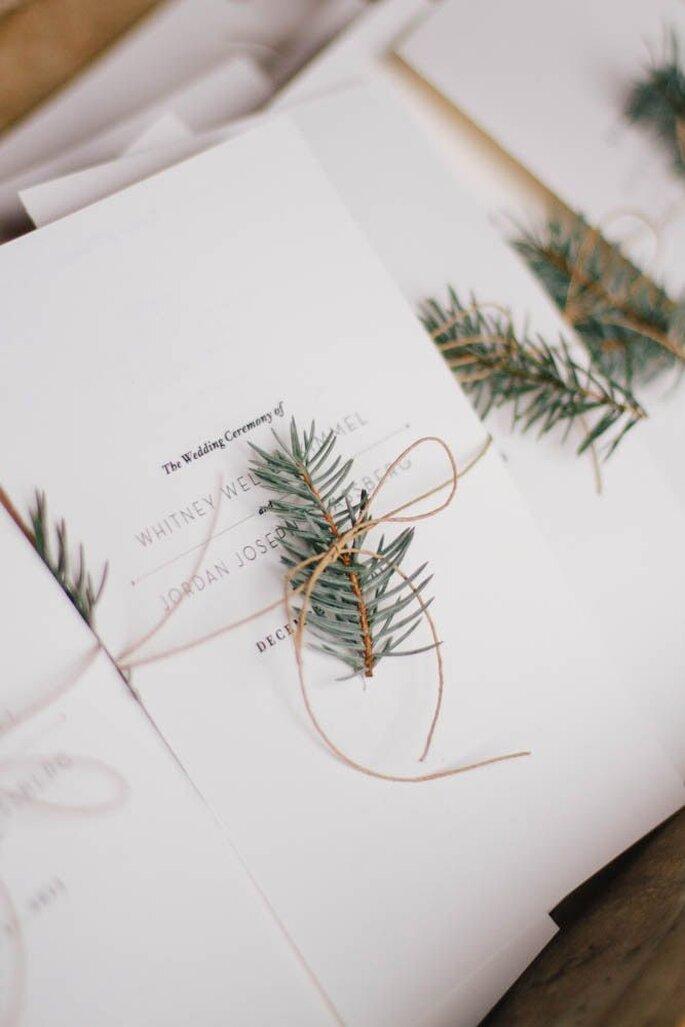 Winterhochzeit Papeterie Einladung