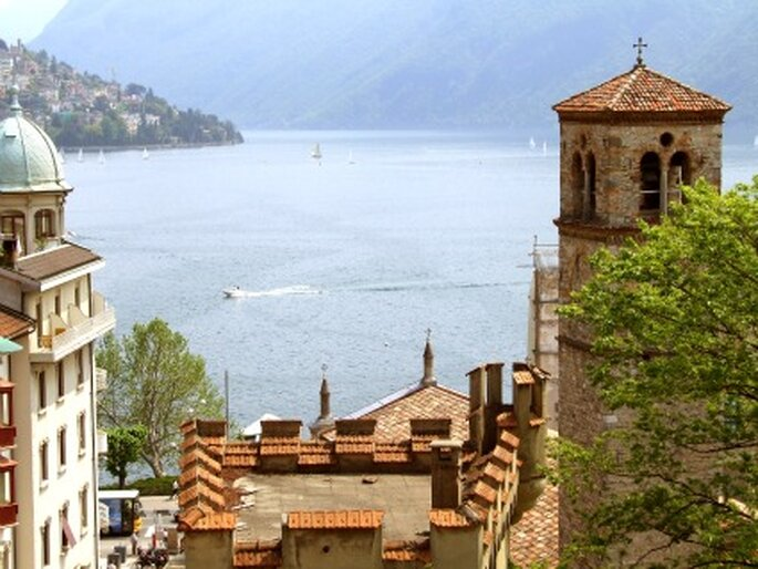 Heiraten in Lugano - mediterranes Flair. Foto: Rainer Sturm / pixelio.de