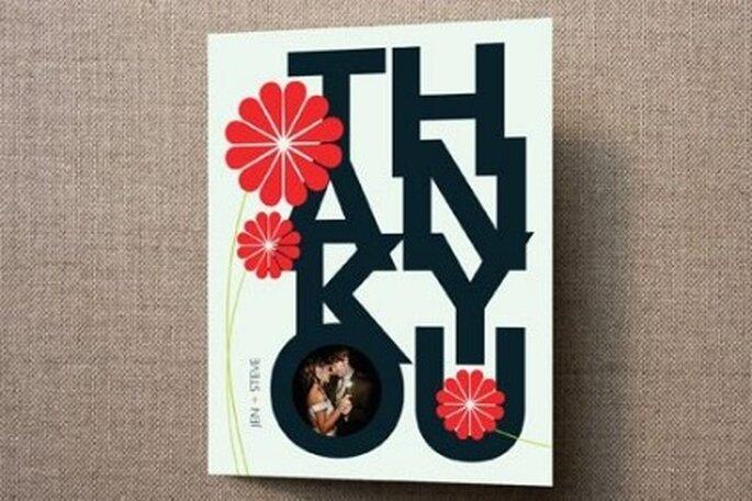 Tarjetas moderna de agradecimiento