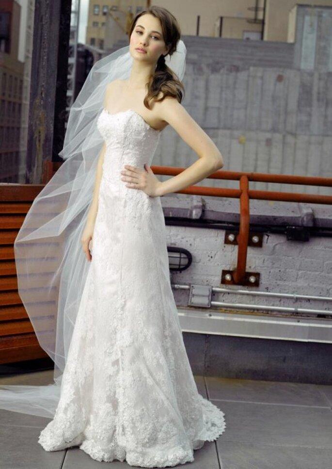 Elegante vestido de novia con encaje - Foto Henry Roth, Polkadot Bride