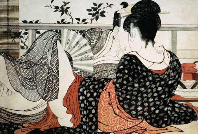 Obra: Utamakura, de Kitagawa Utamaro