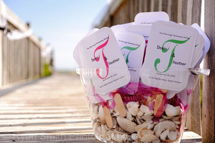 Decoración para una boda en la playa. Foto: Ryan Smith Photography