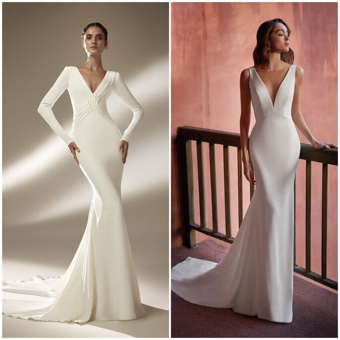 Vestido de noiva sereia simples Pronovias