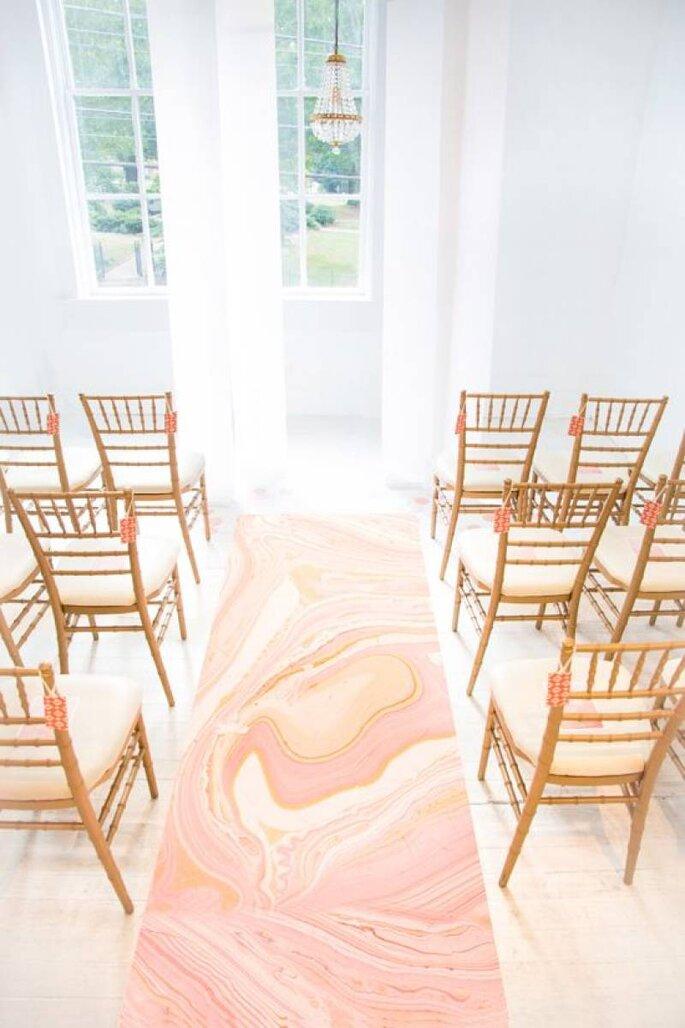Passadeira para casamento marble