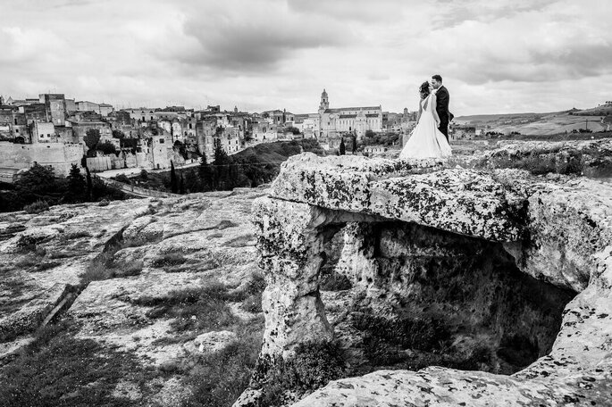 Nicola Centoducati - sposi paesaggio Matera